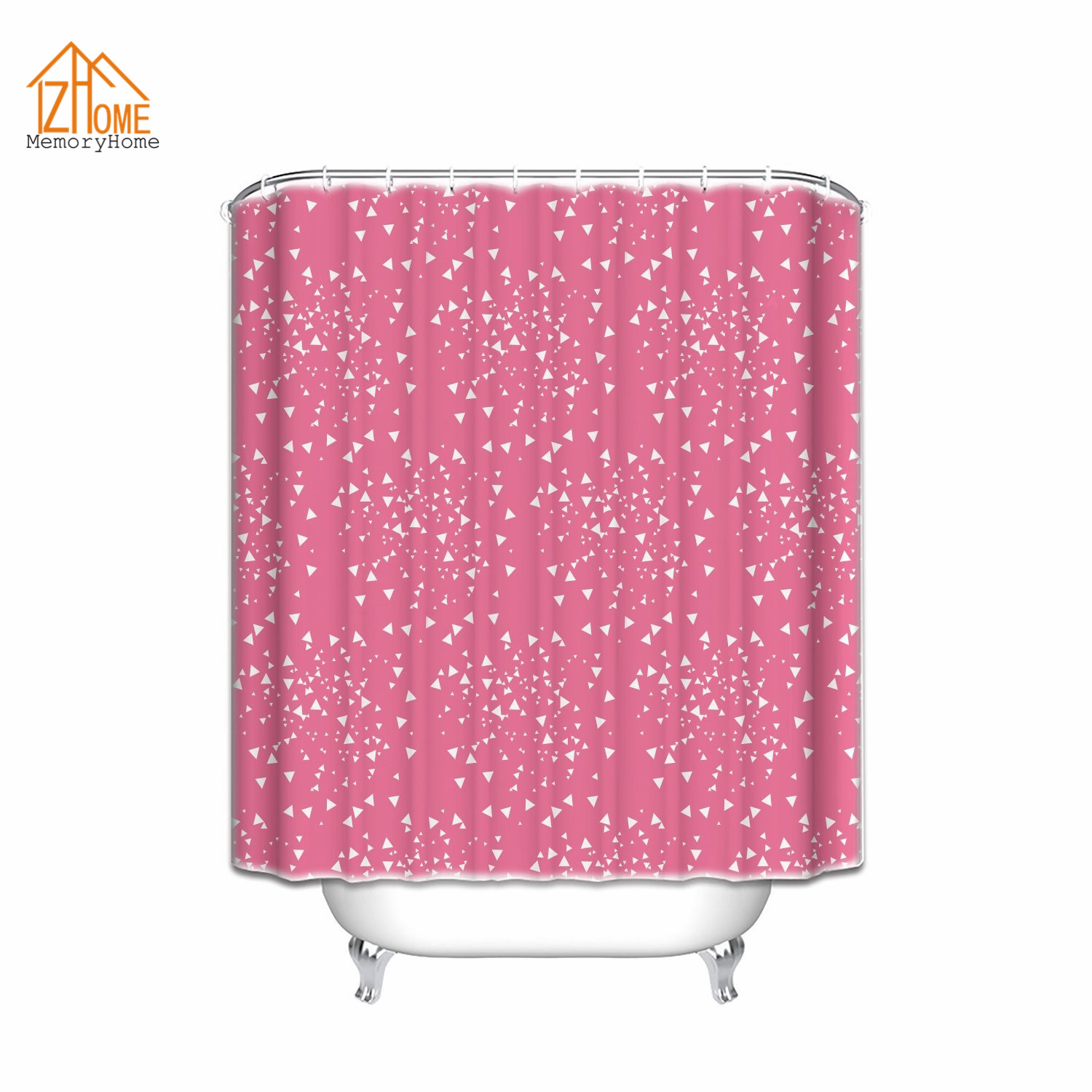 Pink and white bathroom accessories - Memory Home Decor Shower Curtain Set New Design Geometrical Modern Art Pattern Bathroom Accessories Pink And