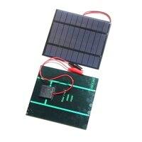 BUHESHUI 2.5 W 5 V GÜNEŞ PANELI Polikristal Güneş Pili + Klip güneş enerjisi şarj cihazı Için 3.7 V Pil Çalışması 150*130 MM 2 Adet Ücretsiz Kargo