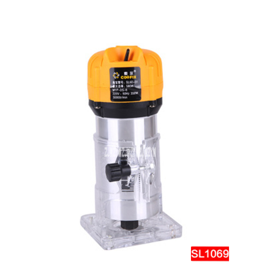 Electric Woodworking Trimming Machine SL 1069 Multi-function Engraving Machine Aluminum Body Trimmer 220v 50HZ 350W 3000r/min 220v high power woodworking engraving machine electric router grooving trimming machine 1800w 23000rpm
