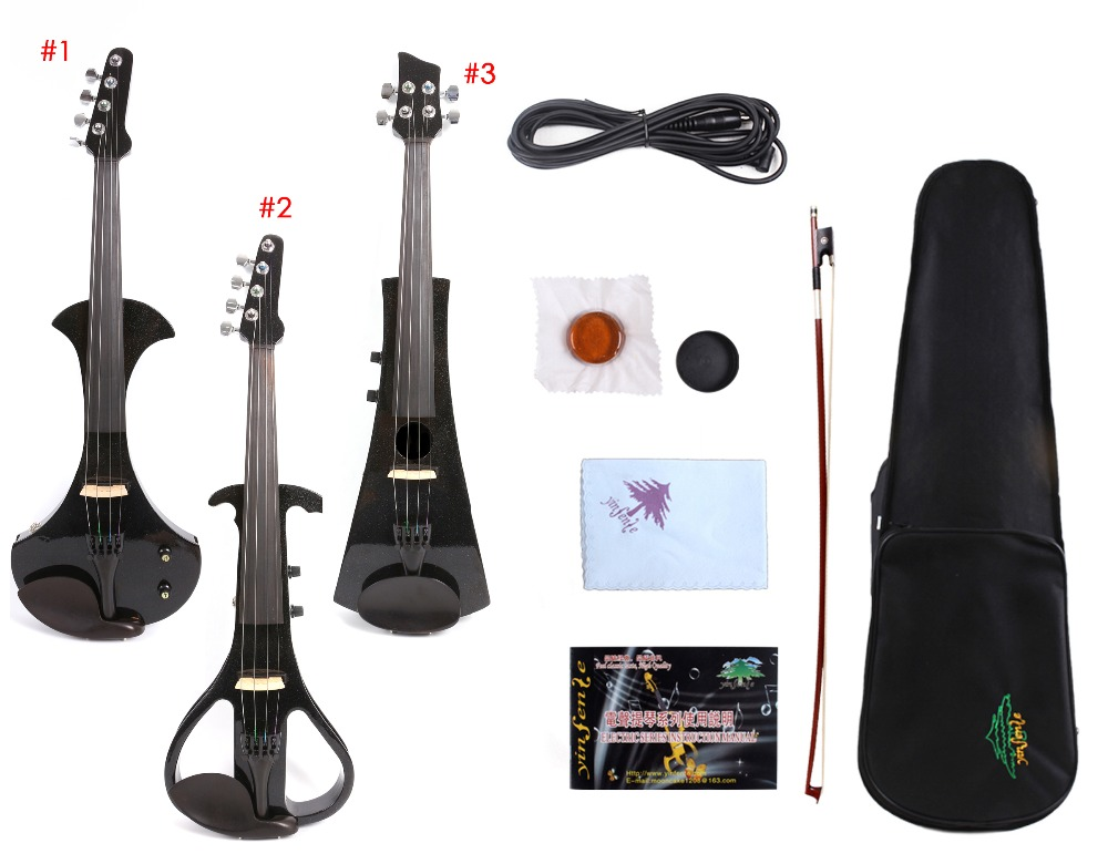 4/4 Violin Full Size White Color Electric Violin Silent Pickup Sweet Sound Free Violin Case Bow4/4 Violin Full Size White Color Electric Violin Silent Pickup Sweet Sound Free Violin Case Bow