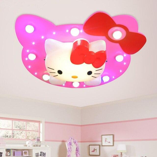 Kids Room Ceiling Lights Cartoon Pink Kitty Cat Children S Bedroom Lamp Sroom Led