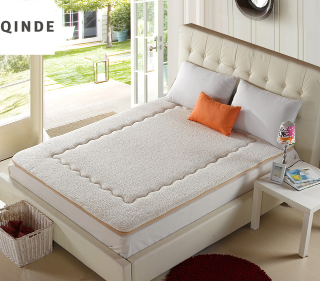 Qinde Manufacturers Whole Lambs Thickening Soft Mattress Bamboo Fiber Collapsible Students Single Double