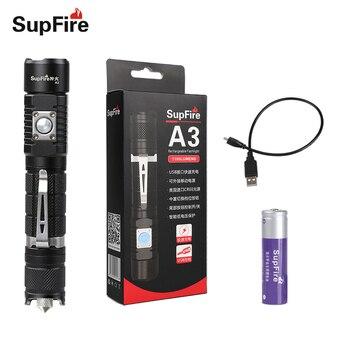 Фонарик светодио дный автомобиля Lanterna Supfire A3-S фонарик USB Linterna вспышкой для конвой S2 S9 Sofirn Nicron Fenix Olight Zaklamp S095