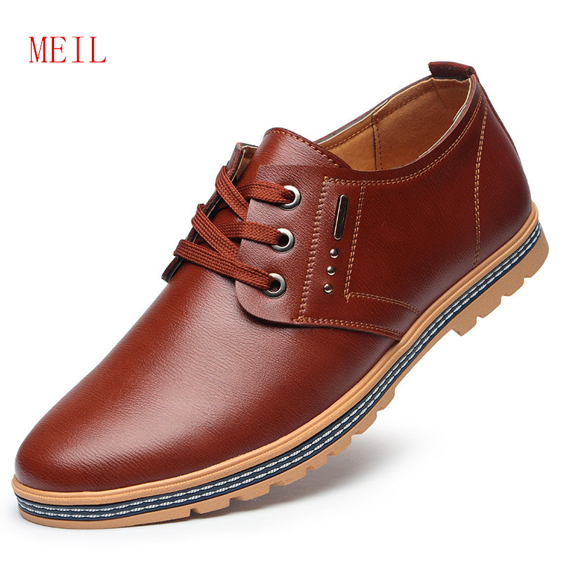 Brand Men Casual Leather Flat Shoes Men 2019 Spring Comfortable Breathable Simple Stylish Denim Shoes Mens Black Loafers in Men 39 s Casual Shoes from Shoes