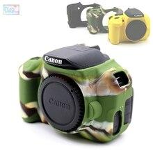 Funda de silicona de goma para cámara, funda protectora de cuerpo, Marco suave, para Canon EOS 650D 700D Kiss X6i X7i Rebel T4i T5i