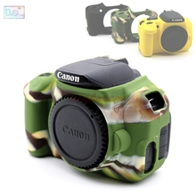 Kauçuk Silikon Kılıf Vücut Kapak Koruyucu Yumuşak Çerçeve Cilt Canon EOS 650D 700D Öpücük X6i X7i Rebel T4i T5i kamera