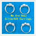 Mini Hoop Earrings Real 925 Sterling Silver Hoop Earrings for women girls baby  Earring Size 10mm, 12mm SEH0008