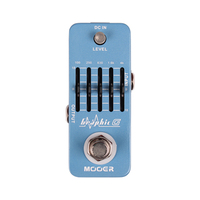 Mooer Graphic G Guitar Effect Pedal Micro Mini Graphic Guitar Equalizer Effect Pedal 5 Band EQ True bypass MEQ1