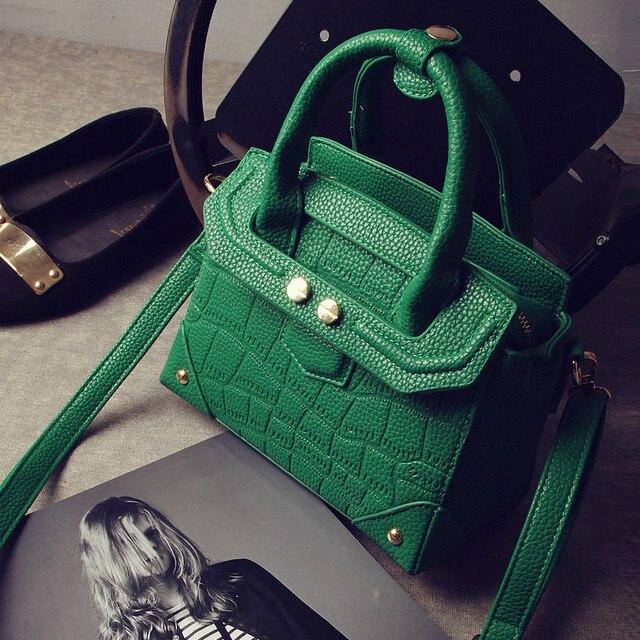2017 Fresh Handbag Bag Mini Bags Rivet Elegant Woman Solid Messenger Bag Female Tote lady Handbag