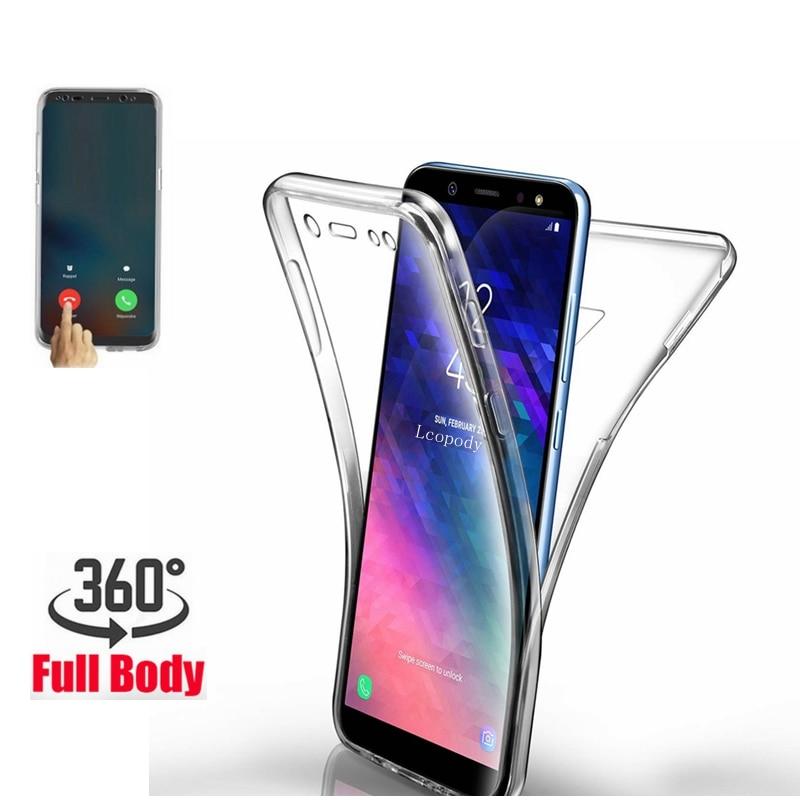 Двойной силиконовый чехол для Samsung Galaxy A10 S5 S6 S7 Edge S8 S9 Plus A3 A5 A6 A8 J3 J4 J5 J6 J7 Neo 2018 2017 Grand Prime G531