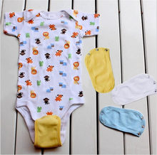 4 Colors Lovely Baby Boys Girls Kids Romper Partner Super Utility Bodysuit Jumpsuit Diaper Romper Lengthen Extend Film(China)