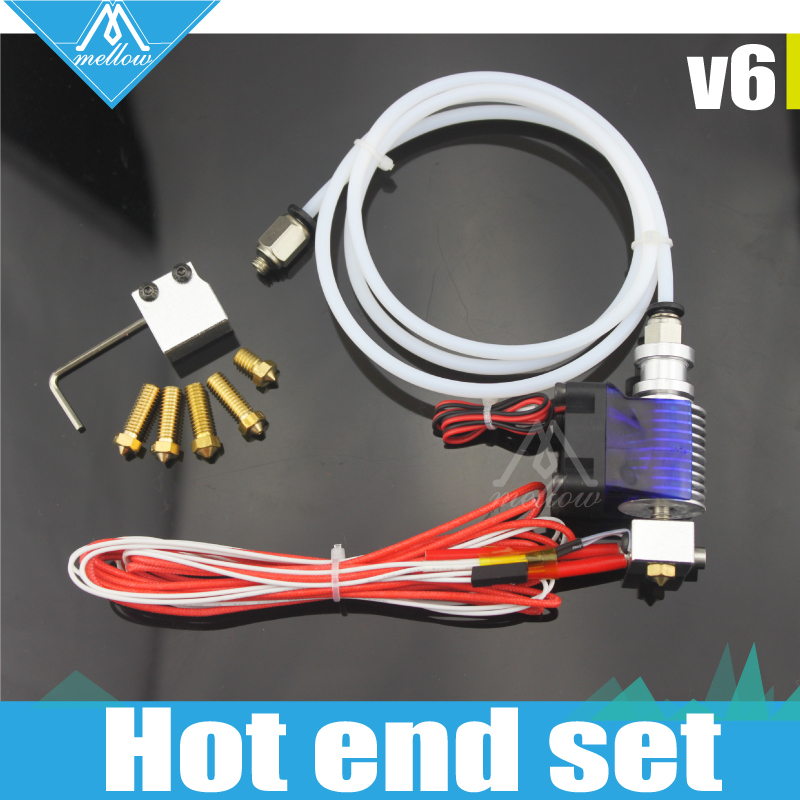 3D Printer J-head Hotend with Cooling Fan for 1.75/3.0MM  v6 Bowden  Wade Extruder 0.2--1.0mm Nozzle+Volcano kit 3d printer accessory reprap j head mkiv mkv hotend nozzle wade bowden extruder for choice top quality free shipping