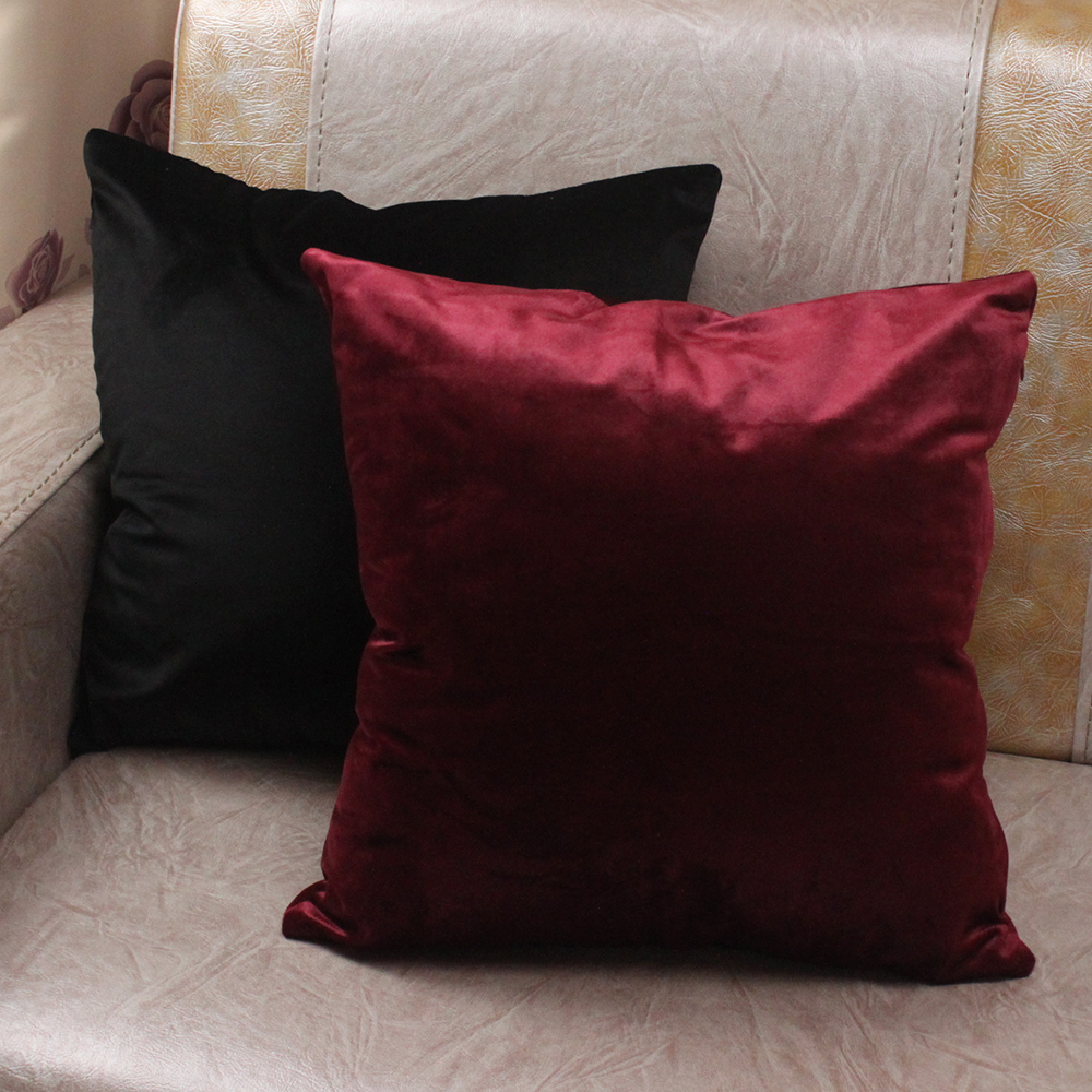 Comfortable Solid Colors Luxury Velvet Cushion Cover Custom Size ...
