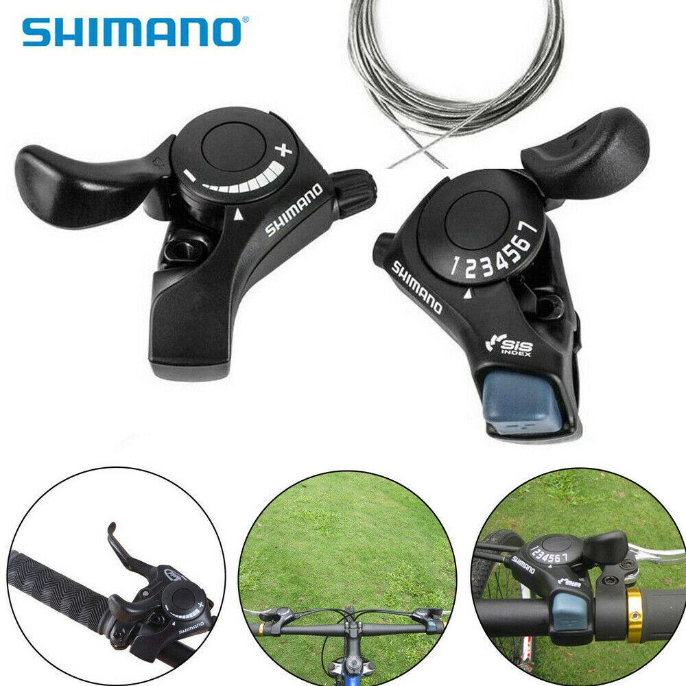 SHIMANO TOURNEY TX50 3 X 7-SPEED BICYCLE THUMB SHIFTER SET