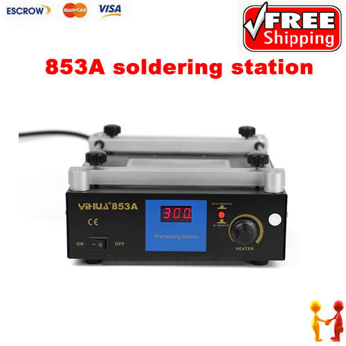 Freeshipping. YIHUA 853A Lead Free Preheating station, Motherboard BGA Preheater Soldering machine 853a bga constant temperature lead free preheating stations