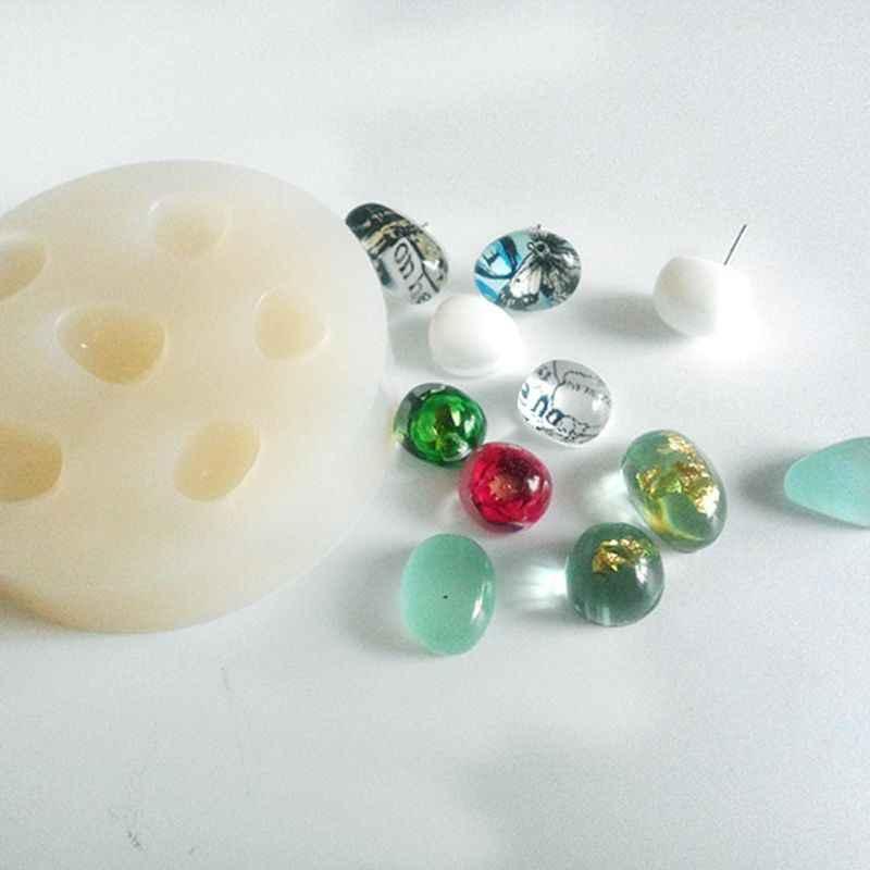 Галька Камни разного размера силиконовая форма DIY смолы ювелирный подвесной Шарм для изготовления