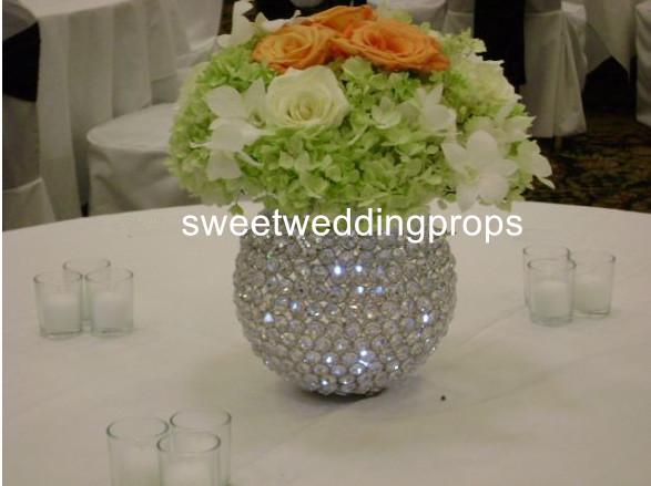 No Flowers Including New Style Silver Glass Vase For Flower