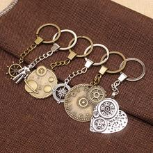 Vintage Steampunk Men Keychain Gears Accessories Keychains For