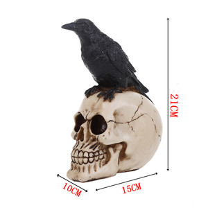 Image 3 - MRZOOT Resin Craft Statues For Decoration Skull Crow Skull Fashion Home Decor Creative Statue Personalized Ornaments