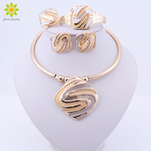 Fashion Bridal Jewelry Sets for Women Dubai Gold Big Necklac