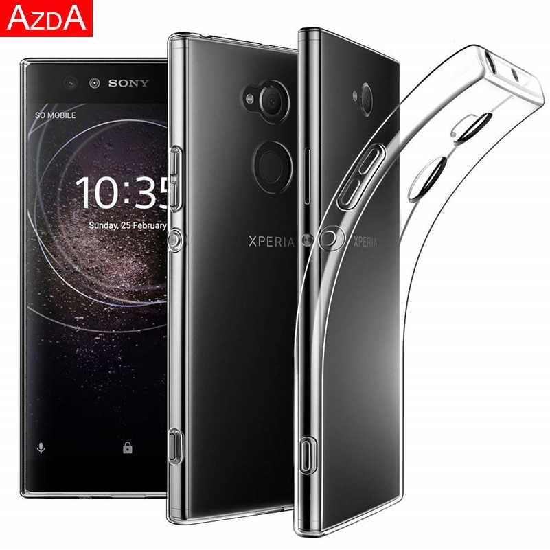 Luksusowy marmur Coque dla Sony Xperia L2 L3 X XA XA1 XA2 Ultra Plus XZ XZ1 XZ2 kompaktowy XZ3 Z5 Funda dla Xperia 10 TPU kwiat sprawa