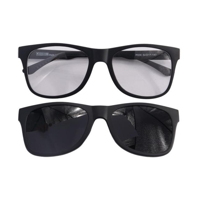 UV400 Polarizó el Clip en Luz Super Óptico Marco de Los Vidrios de Conducción Nocturna Lente de visión Para Las Mujeres y de Los Hombres Clip De Doble Propósito P006