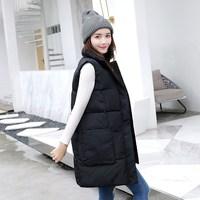 Long Vest Winter Coat Women Sleeveless Down Jacket Slim Female Warm Coat Korean Waistcoat Parka Vest