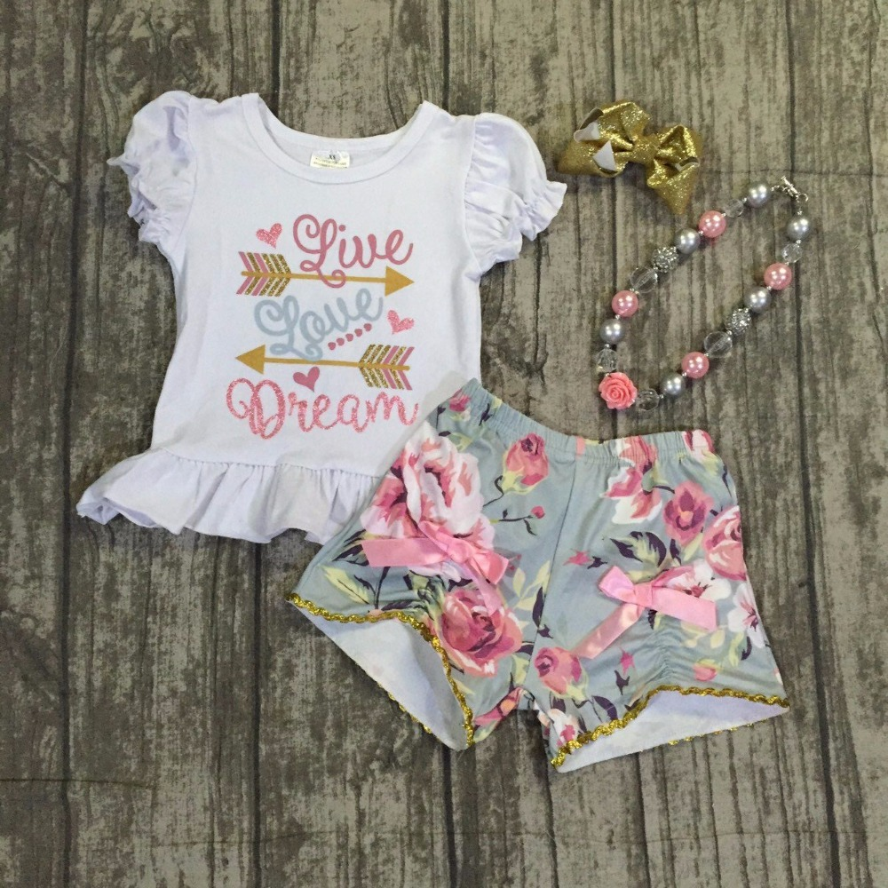 baby girls summer outfits kids girls live love dream summer outfitsgirls top with floral shorts clothes with necklace and bows zaful new cami wrap top with striped shorts tied slip top women crop summer beach stripe top high waisted shorts