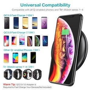 Image 3 - CASEIER 10W 2 en 1 QI chargeur sans fil pour iPhone X XS Max XR 8 chargeur rapide pour Apple Watch 4 3 2 double Cargador inalambrico