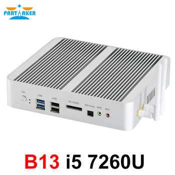 Partaker Fanless Mini Computer i7 8550U/6567U i5 8250U/7260U 2*DDR4 Msata+M.2 SSD Micro PC Win10 Pro Barebone HTPC Nuc VGA HDMI