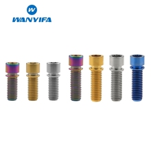 Wanyifa BMX M8x20mm M8x25mm Small Stigma Head Titanium Bolt Screw With Washer for Bicycle Stem