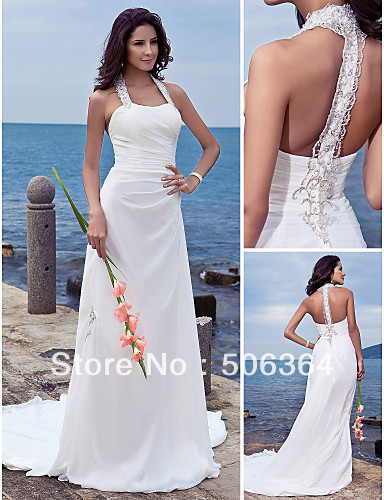aliexpresscom buy high quality white beach wedding dresses bridal wedding attire dresses pageant dress custom made size 2 10 12 20 qw10031864 from