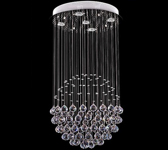 New luxury modern round crystal light pendant lamp lighting new luxury modern round crystal light pendant lamp lighting chandelier loft bar diningroom blingbling mozeypictures Gallery