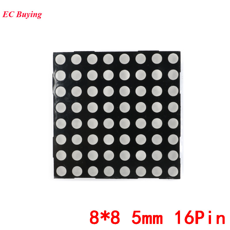 8x8 5mm Dot Matrix 88 16Pin Digital Tube Red Common Anode LED Display DIY Electronic Module 2088BS For Arduino In Displays From Components