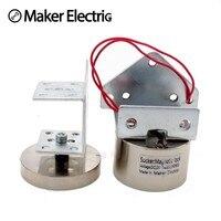 DC12V 24V Electric Magnetic Electromagnetic Door Lock Cylinder 50KG Holding Force Access Control Single Door