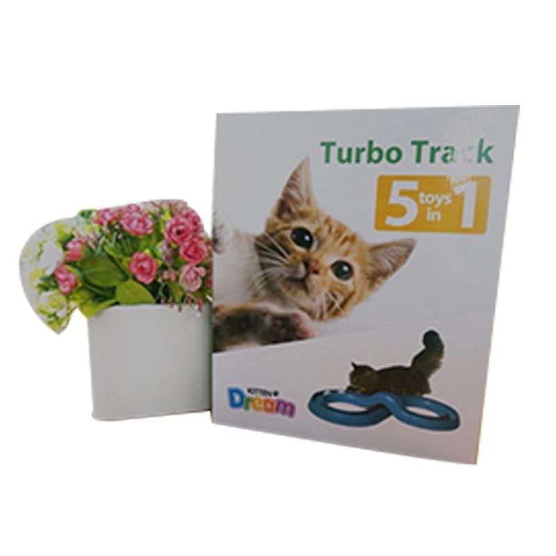 1 개의 슈퍼 활주로에서의 Westrice New 5 고양이 장난감 애완 동물 장난감 조합의 5 종류 크리 에이 티브 애완용 고양이 장난감