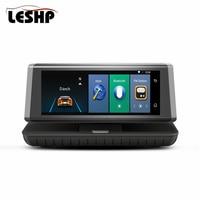 4G Тип 8 Full HD1080P Сенсорный экран авто Видеорегистраторы для автомобилей Android5.1 WI FI gps видео Регистраторы Двойной объектив регистраторы ADAS удал