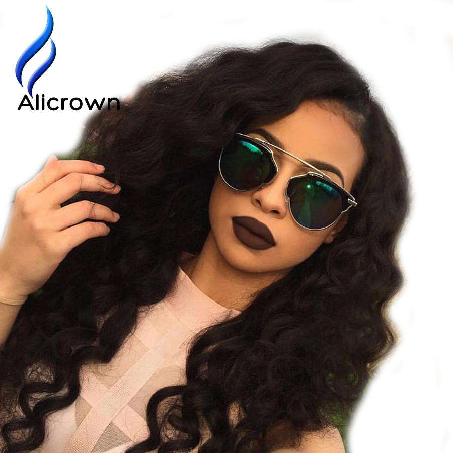 ALICROWN Top Curly Wig Glueless Full Lace Wigs With Baby Hair For Black Women 10a Brazilian Curly Lace Front Wig Bleached Knots