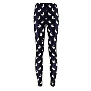 Эластичные повседневные штаны с 3D цифровой печатью Тай Чи, восемь диаграмм, женские леггинсы, 7 размеров, одежда для фитнеса, бесплатная дост...