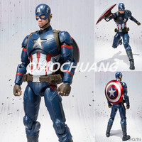 Captain America Civil War SHF Figuarts SHFiguarts Avengers Captain America PVC Action Figure Collectible Model Toy