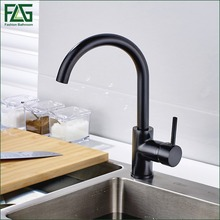 FLG Best Quality Wholesale And Retail Kitchen Sink Black Water Faucet 360 Degree Rotating Deck Mounted Kitchen Mixer Taps 100059