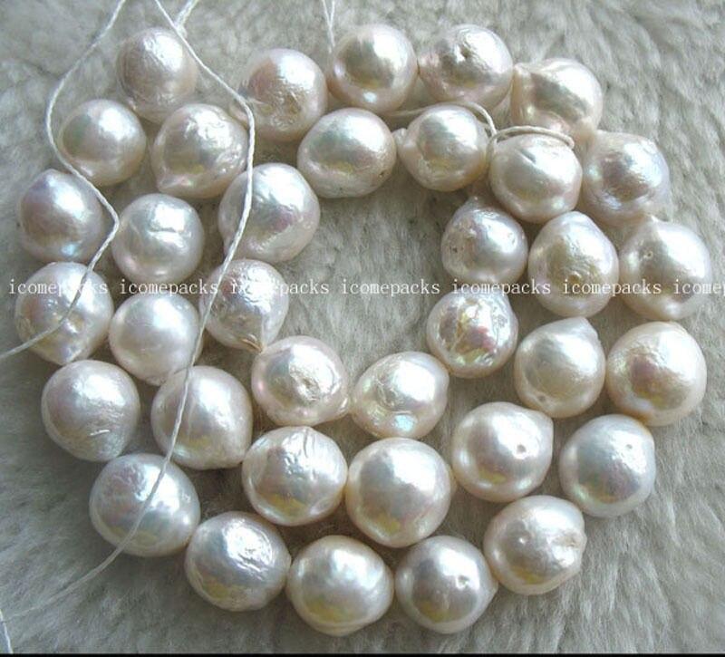 Vente chaude Noble-LIVRAISON GRATUITE >>>@@ gros nature perle d'eau douce blanc reborn keshi 15.5