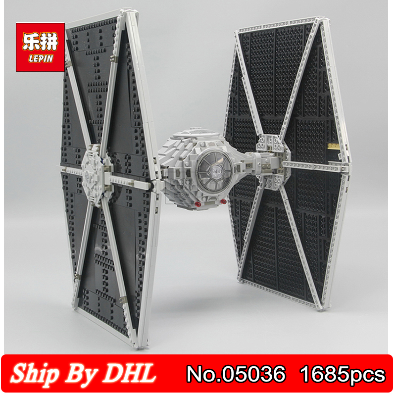 LEPIN 05036 Star Series Wars Tie Toys Fighter Satellite Building Block 1685pcs Bricks Kits Compatible Legoingly 75095 new 1685pcs lepin 05036 1685pcs star series tie building fighter educational blocks bricks toys compatible with 75095 wars