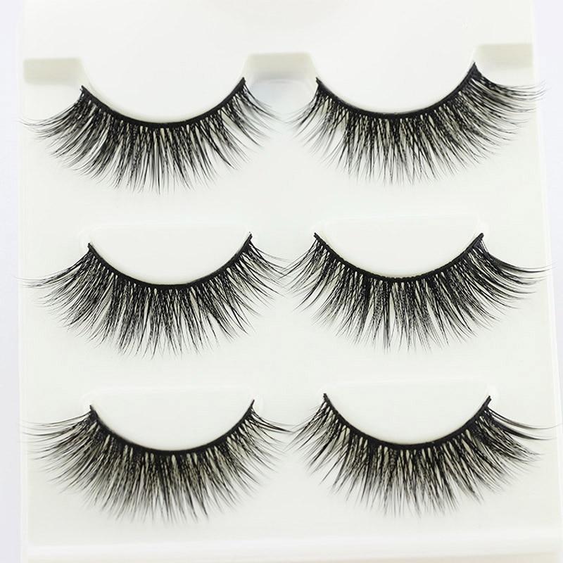 YOKPN Real 3D Fashion Eyelashes Natural Cross Fake Eye Lashes Soft Sexy Fasle Eyelash Beauty Makeup Tips Lashes High Quality