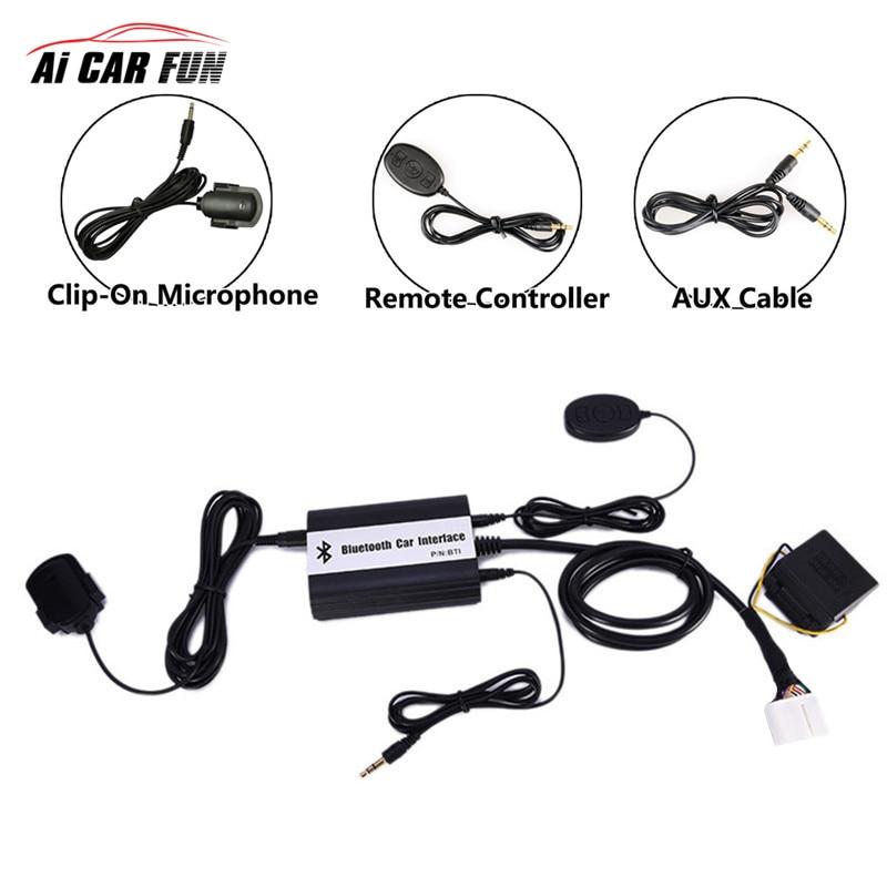 Voiture Bluetooth A2DP MP3 adaptateur AUX mains libres USB Kit de voiture charge de musique pour Toyota Lexus Scion OEM radios ajustement système de Navigation