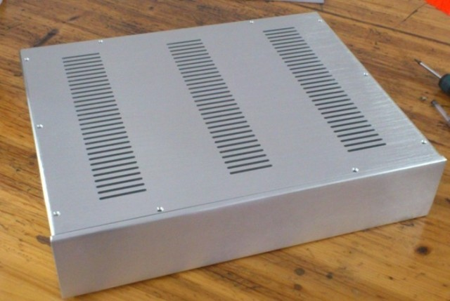 New 4810 silver Full aluminum chassis Amplifier Case Preamp enclosure DAC box