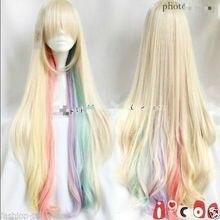 Amazing Harajuku wig the VOCALOID MAYU cosplay beautiful colorful long wigs