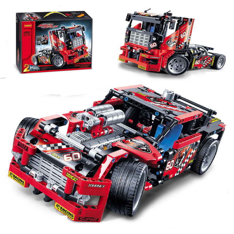 608 pcs Huge Car Model Building Kits Building Block Baby Boy Building Model car 2 in 1 Vehicle Block juggle Toy bricks N3360 встраиваемая акустика трансформаторная turbosound athens tcs52c t wh