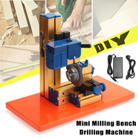 24W DC 12V 2A DIY Mini Lathe Rotary Spin Indexing Milling Bench Drilling Machine Electric Drill