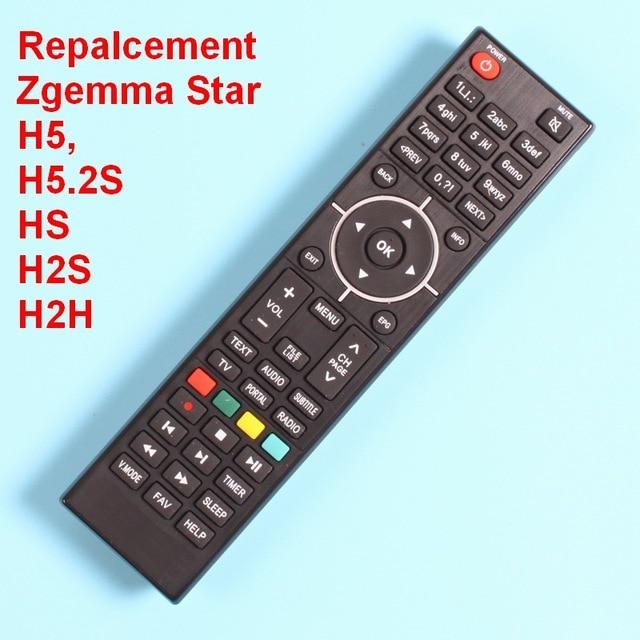 Controle remoto para zgemma star hs h2s h2h h4 h5 h5.2s h52tc h7 h9.2s receptor de tv por satélite decodificador, tunner controlador iptv